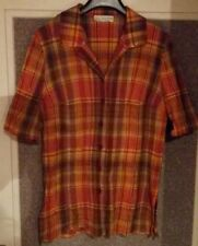 Chemisier tissu madras ton orange Paul Mausner T 46 sur jupe robe pantalon short