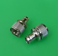 (10 PCS) UHF PL259 Male to BNC Female Connector - USA Seller