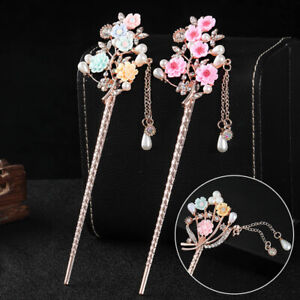 1PC Vintage Hairpins Chinese Traditional Hair Accessories Tassel Pendant