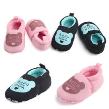 Winter Toddler Baby Cotton Prewalker Shoes Round Toe Flats Soft Slippers Shoes