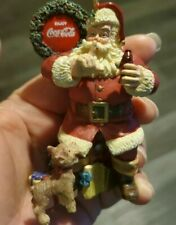 Vintage 1999 Santa Claus Coca Cola-Coke Wreath Xmas Tree Ornament Holiday Decor
