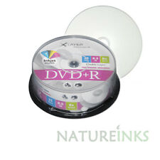 25 Xlayer Printable white Dual Layer DVD+R DL Double Layer 8x Discs 8.5GB Ricoh
