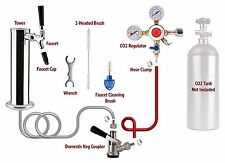 1-Tap Chrome Tower Draft Beer Kegerator Conversion Kit! Includes Co2 Regulator!