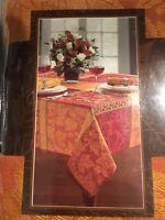 "Montvale Autumn Plaid Jacquard FabricTablecloth 60""x 84"" Oblong/Rectangle new"