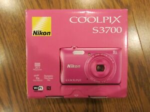 Nikon Coolpix S3700 20.1 MP Pink Digital Camera Open Box Never Used