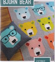 Bjorn Bear - fun modern pieced quilt PATTERN - 4 sizes - Elizabeth Hartman