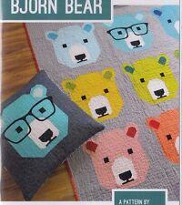 Bjorn Bear - fun modern pieced quilt PATTERN - 4 sizes - Elizabeth Hartman