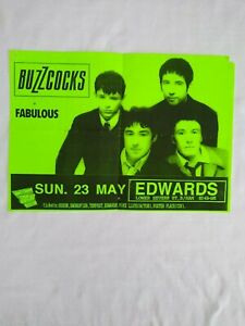 Original BUZZCOCKS 1993 Concert Poster Edwards Birmingham