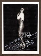 RACHEL DEVIRYS Actrice Russe Blanc Film La Vocation Autographe Photo 1928