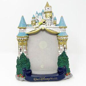 Walt Disney World WDW Cinderella Castle Tinker Bell Photo Frame 3D MK 5 x 7 Used