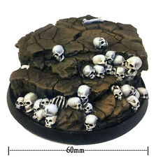Heresy Miniatures Resin 60mm Round Skullz Display Base