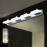 12W Bathroom LED Light Crystal Wall Fixture Sconce Makeup Mirror Front Lamp US