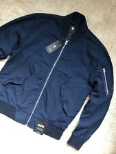 "G-STAR RAW RINSED BLUE ""RACKAM DC"" ZIP BOMBER JACKET COAT - MEDIUM - NEW & TAGS"