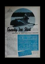 Ice Boat 2 seater 1939 How-To build PLANS Harley Motor Power
