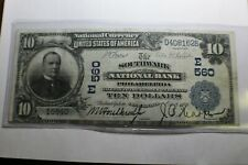 1902 The Southwark Philadelphia $10 Note National Note PA E 560
