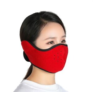 Face Mask Ski Winter One Hole Balaclava Ear Warmers Tactical Warm Red Color