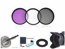 FP73u 67mm Effects Filter + Lens Hood + Ring + LensPen + Case for Canon SX410 IS