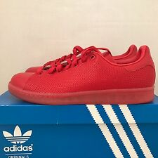 ADIDAS STAN SMITH ADICOLOR SCARLET RED SIZE 10 NEW WITH BOX