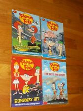 Disney Phineas and Ferb lot of 4 Paperback Books