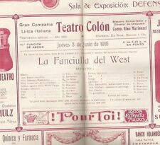 Programme Colon Teather Opera G Dalla Rizza M Sammarco 1915