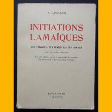 INITIATIONS LAMAÏQUES Alexandra David-Neel 1957