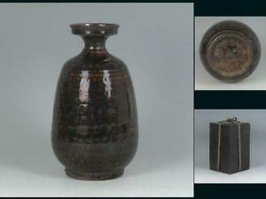 Korean Joseon Dynasty Tokkuri Vase / W 12.7× H 21.6[cm] Pot Plate