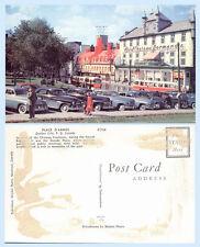 Place D'Armes Quebec City Canada Cars Hotel Chateau Normande Postcard