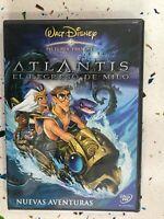 Atlantis El Retour De Milo DVD Walt Disney Neuf Aventures + Jeux Esp Ing Am