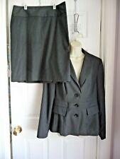 Banana Republic 12 Blazer Jacket and Pencil Straight Skirt 2pc SET Grey Elegant