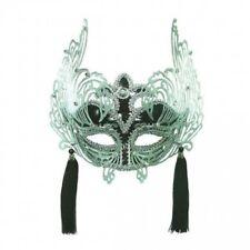 Negro y Plata Masquerade Antifaz Accesorio de Disfraz Adulto Decorativo Fiesta