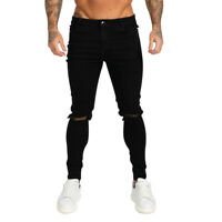 GINGTTO Men's Ripped Jeans Skinny Stretch Distressed Frayed Slim Fit Denim Pant