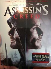 Assassins Creed (Blu-ray/DVD, 2017, 2-Disc Set, No digital copy