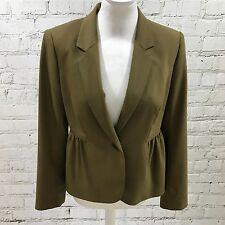 HOBBS Khaki Green Blazer Jacket Fitted Pinched Detail Smart Size UK 12 08198
