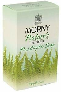Morny Nature's French Fern Fine English Soap,100g Fast Ship From India