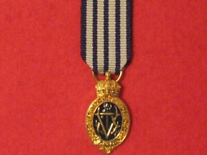 Miniature British Albert Medal Sea Gold 1867 - 1949 Medal with ribbon in mint
