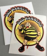 2 10x9cm Vinyl Stickers bad manners 2 Tone madness laptop skinhead specials ska