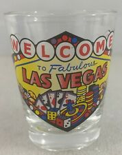 Las Vegas Official Souvenir Shot Glass - Playing Cards, Poker Chips, Dice, Vegas
