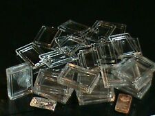 Lot of 20  1 Gram .999 Fine Silver Gold Bar Acrylic Holders Plastic Cases