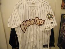 Sacramento River Cats Button Front Baseball Jersey Size Man 44 All Sewn