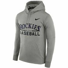 NEW Colorado Rockies Baseball Nike MLB THERMA Pullover Hoodie Sweatshirt XXL