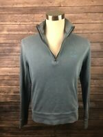 Burberry Brit Men's Half Zip Long Sleeve Pullover Sweater Size Medium