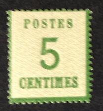 Timbre Alsace loraine, n°4,  5c vert, xx, cote 250e. Signe Calves