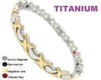 Magnetic Energy Germanium Power Bracelet Health 5in1 Bio Armband TITANIUM steel