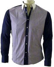 Camicia Uomo Ragazzo OVERMAIL Navy Shirt B339 Tg S M L XL XXL