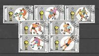 Football Mongolie (22) série complète 7 timbres oblitérés