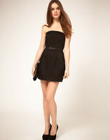 LADIES MANGO BLACK MINI DRESS SIZE S (8-10) BRAND NEW WITHOUT TAGS