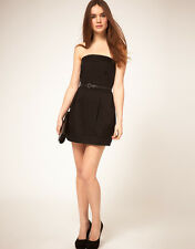 LADIES MANGO BLACK MINI DRESS SIZE L (12-14) BRAND NEW WITHOUT TAGS