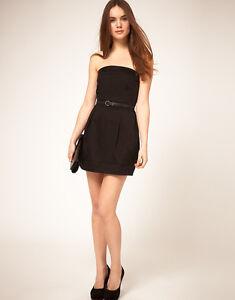 LADIES MANGO BLACK MINI DRESS SIZE S (8-10) BRAND NEW WITHOUT TAGS