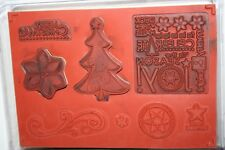 e Stampin Up Retired Stamps Season Of Joy 8 Pc Lots Of Staining No Stickers