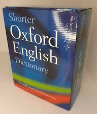 Shorter Oxford English Dictionary Set Of 2 Volumes Book Boxed New Sealed